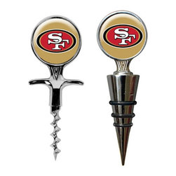 Great American Products - Great American NFL Cork Screw and Wine Bottle Topper Set Multicolor - CSWSC2000 - Shop for Openers and Stoppers from Hayneedle.com! About Great American ProductsWith beginnings as a belt buckle maker in Texas Great American products has become the leader in licensed metal emblems and the products that they adorn. With licenses with every major sports league Great American products a wide range of unique products like drinkware coolers and kitchen accessories for the dedicated fan.