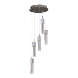 ET2 - ET2 Fizz Iii Pendant Light X-CP98-56722E - This forever popular collection is now better than ever. High output LEDs now illuminate the bubble glass pendants. The LED modules produce 20% more light, 90% less heat, 25 time longer life, and 75% less energy than the previous halogen lamp. You also still have dimming capability, adding a personal touch to your space.