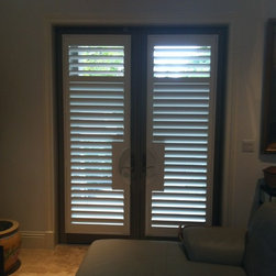 Plantation Shutters on French Doors - Expressive Design Systems