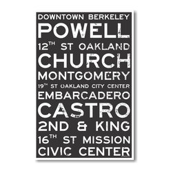 PosterEnvy - Oakland Train Station Street Signs - NEW World Travel Poster - Oakland Train Station Street Signs - NEW World Travel Poster