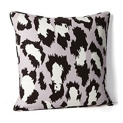 DIANE von FURSTENBERG Spotted Cat Decorative Pillow - Everyone needs a little animal print in their lives and this DVF pattern is one of the most stylish around.