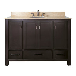 "48"" Toscana Single Bath Vanity - Espresso -"