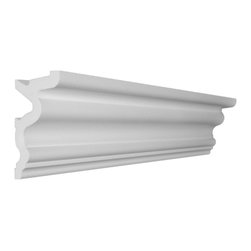 """CCM - 56 Ft Of 4.5"""" Style 4 Foam Crown Molding 8' W / Precut Corners - THIS IS A KIT - 56 feet of crown molding. 95.5"""" lengths."""