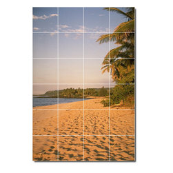 Picture-Tiles, LLC - Beach Photo Backsplash Tile Mural 22 - * MURAL SIZE: 48x32 inch tile mural using (24) 8x8 ceramic tiles-satin finish.