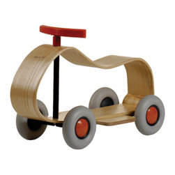 """Sirch - Sirch - Max Push Car - Max features steam-curved birch plywood and """"whisper-quiet"""" wheels. This ride-on kids vehicle can be used both inside & out as it smoothly navigates most terrains. Perfect for kids age 18 months+. The wheels are made from non-marking rubber and the soft ash is easily touchable."""