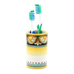 Artistica - Hand Made in Italy - Deruta Vario: Toothbrush Tumbler - Deruta Vario