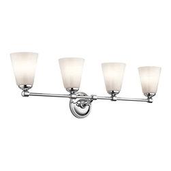 Kichler Lighting - Kichler Lighting 45520CH Ashbrook Transitional Bathroom Light In Chrome - Kichler Lighting 45520CH Ashbrook Transitional Bathroom Light In Chrome