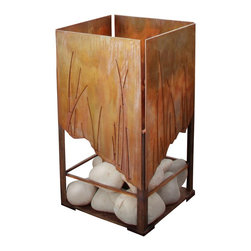 Terra Flame - Elements Fire Lantern - You want the ease of man-made design, but the beauty of nature. Get both with this striking fire pit. The rust facade feels elemental, but the clean-burning fuel means it incorporates the best of innovative design.