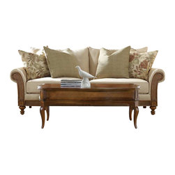 Hooker Furniture - Hooker Furniture Windward Upholstered Sofa in Dark Honey - Hooker Furniture - Sofas - 112552013 - Envision furniture with a relaxed and laid back feeling.