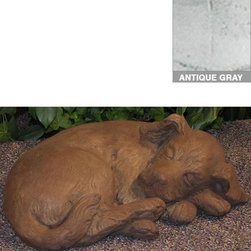 Home Decorators Collection - Sleeping Curled Puppy Statue - The Sleeping Curled Puppy Statue will bring inviting charm to your porch, garden or indoor space with a cute design you can't help but love. Manufactured from long lasting, high quality stone, this home accent is the purrrfect choice for your home decor. Order yours today! Made of frost proof stone to ensure years of durability, even in the harshest of climates. Made in the USA.
