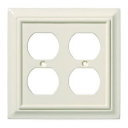 Liberty Hardware - Liberty Hardware 126376 Wood Architectural WP Collect 4.96 Inch Switch Plate - A simple change can make a huge impact on the look and feel of any room. Change out your old wall plates and give any room a brand new feel. Experience the look of a quality Liberty Hardware wall plate. Width - 4.96 Inch, Height - 4.9 Inch, Projection - 0.4 Inch, Finish - Light Almond, Weight - 0.22 Lbs.