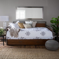 Hillsdale Furniture - Belham Living Decker Daybed - Full - Walnut - HL4083 - Shop for Daybeds from Hayneedle.com! Add functional sleeping space to any room in your home with the Decker Daybed - Full - Walnut. Made of metal and wood with a walnut finish this collection includes the sides back and rails to build your full size daybed. An optional trundle to add even more sleeping space is also available. About Hillsdale FurnitureLocated in Louisville Ky. Hillsdale Furniture is a leader in top-quality affordable bedroom furniture. Since 1994 Hillsdale has combined the talents of nationally recognized designers and globally accredited factories to bring you furniture styling and design from around the globe. Hillsdale combines the best in finishes materials and designs to bring both beauty and value with every piece. The combination of top-quality metal wood stone and leather has given Hillsdale the reputation for leading-edge styling and concepts.