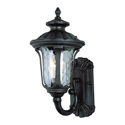 Trans Globe Lighting - Trans Globe Lighting New American Transitional Outdoor Wall Sconce X-KB 0195 - From the New American Collection comes this stylish blend of old world European influencing and updated American flair. This Trans Globe Lighting outdoor wall sconce features a beautiful and eye-catching water glass shade that compliments the clean look of the Black finish.