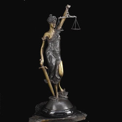 Bey-Berk International - Bey-Berk International 16.5H in. Lady Justice on Marble Multicolor - B105 - Shop for Sculptures Statues and Figurines from Hayneedle.com! Accentuate your home's ambience with the Bey-Berk International 16.5 in. Lady Justice on Marble - Bronze - T.P. Made from high-quality marble this statue is both long lasting and sturdy. It's a beautifully sculpted decor accessory with intricate details and well-molded form. Because it's tarnish-proof it is easy to maintain. Enhance your surroundings with this graceful and stylish figurine. This contemporary statue is an absolute must-have and also ideal to gift your family and friends.About Bey-Berk InternationalThis quality item is created by Bey-Berk. For more than 20 years Bey-Berk International has crafted and hand-selected unique gifts and accessories from around the world to meet the demands of discerning customers. With its line of elegant and distinctive products Bey-Berk has established itself as a leader in luxury accessories.