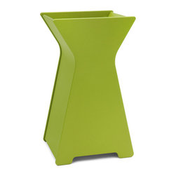 Loll Designs - Hourglass Planter, Leaf Green, Large - Who says you have to be a square when it comes to designing containers? Our friend Steve Cozzolino created this whimsical look that will add a depth and inspiration to your garden. The large hourglass Container will make quite a statement as a front door piece. Available in two sizes.
