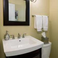 Contemporary Bathroom by Design First  Builders