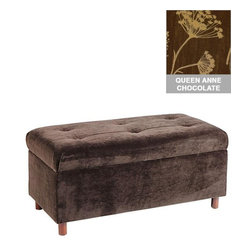 Home Decorators Collection - Custom Langley Upholstered Storage Bench - Our Custom Langley Upholstered Storage Bench is the perfect place to sit and get ready for the day. The timeless design and tufted fabric suits many decorating concepts. A convenient hidden storage compartment catches shoes, linens and more. Choose from a wide variety of beautiful, top-quality fabric options to create a piece that you are sure to love. Assembled to order in the USA and delivered in 4-6 weeks. Spot clean only. Some assembly required.