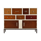 Holly & Martin - Longford Console - If you're obsessed with organization, take a deep breath and relax: Everything has its place in this eclectic console. The eye-catching patchwork of drawers, knobs and cabinets makes organizing the clutter a breeze and promises to delight design-savvy Type A's.