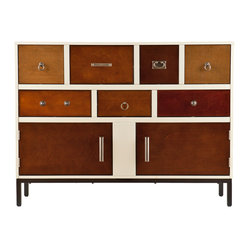Holly & Martin - Multisize Drawer Console - If you're obsessed with organization, take a deep breath and relax: Everything has its place in this eclectic console. The eye-catching patchwork of drawers, knobs and cabinets makes organizing the clutter a breeze and promises to delight design-savvy Type A's.