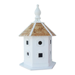Home Bazaar - Danbury DoveCote, Large - Add an historic status symbol to your garden with a traditional six-sided dovecote. The birdhouse will invite pigeons and doves to your yard and give them six separate compartments for resting. Simply remove the base for regular cleaning and enjoy your new winged friends.