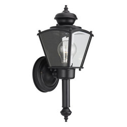 Progress Lighting - Progress Lighting P5846 BrassGuard Lantern Series Single-Light Small Square Outd - Wall torch with clear beveled glass panels.Features: