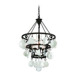 Troy Lighting - Troy Lighting F3824 Barista Single Tier Chandelier - Wrought Iron Single Tier Chandelier in Vintage Bronze from the Barista Collection by Troy Lighting.