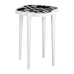 Home Decorators Collection - Loft Accent Table - The Loft Accent Table offers functionality and style. The smooth finish and sleek styling ensure that it will match any home decor while the bottom shelf can be used for additional table space or storage. Order now and add a fresh, new look to your home. Quality crafted of MDF and pine. Available in a variety of colors.