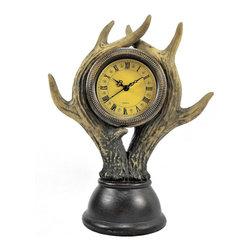 Deer Antler Table Clock - Deer Antler Table Clock