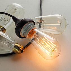 40 Watt Vintage Edison A Light Bulb -