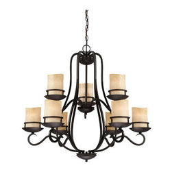 Designers Fountain - Designers Fountain 84789 Lauderhill 9 Light 2 Tier Up Lighting Chandelier - Features:
