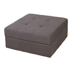 Great Deal Furniture - Northridge Grey Fabric Storage Ottoman - The Northridge Grey Fabric Storage Ottoman is the perfect combination of luxury and utility. It combines hidden storage with a cushioned top for extra seating.