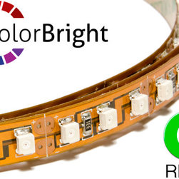Flexfire LEDs Products - ColorBright Vivid Green (Reel) - ColorBright™ Vivid Green LED lights - Accent lighting for restaurants, kitchens, TV backlight, countertops, bartops, and more! These high quality green LED flex strips can be attached almost anywhere. They are super bright and will last over 11 years at 12 hours a day.