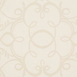 Romosa Wallcoverings - Beige Damask Aria Wallpaper - - Color: Beige