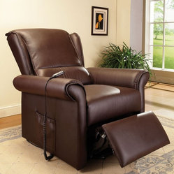 ACME Furniture - Dark Brown PU Electric Lift Recliner with Massage Function - 59