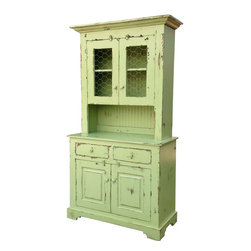 Fable Porch Furniture - Waldo Hutch and Buffet - Show it off! This celery-green hitch is the perfect place to store and display your grandmother's china or your collection of artsy figurines.