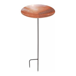 Achla Designs Polished Copper Birdbath with Stand - Product Dimensions: 16 x 16 x 4 inches