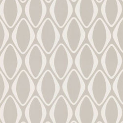 Echo Design - Echo Design Eclipse Wallpaper Sample in Grey - This new Echo Design wallpaper collection is both fun and attention grabbing. Suede accents and mirrored, shimmering geometric shapes work together to create a contemporary design.