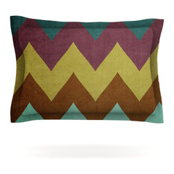 """Kess InHouse - Catherine McDonald """"Mountain High"""" Art Object Pillow Sham (Cotton, 30"""" x 20"""") - Pairing your already chic duvet cover with playful pillow shams is the perfect way to tie your bedroom together. There are endless possibilities to feed your artistic palette with these imaginative pillow shams. It will looks so elegant you won't want ruin the masterpiece you have created when you go to bed. Not only are these pillow shams nice to look at they are also made from a high quality cotton blend. They are so soft that they will elevate your sleep up to level that is beyond Cloud 9. We always print our goods with the highest quality printing process in order to maintain the integrity of the art that you are adeptly displaying. This means that you won't have to worry about your art fading or your sham loosing it's freshness."""