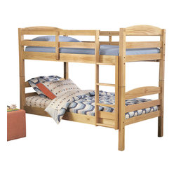 Homelegance - Homelegance Brandon Twin Bunk Bed in Pine - A shared space made roomier with the addition of the Brandon bunk bed. The pine finish can be dressed to reflect a masculine or feminine palette.