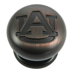 "Stone Mill Hardware - Auburn Cabinet Knob in ORB - Stone Mill Hardware - Auburn Cabinet Knob in ORB, Beautiful oil rubbed bronze finish. Engraved with the Auburn University logo. Solid, high-quality cabinet hardware., Diameter: 1.25"", Projection: 1 1/8"",Product Finish/Color: Oil-Rubbed Bronze,The screws are included"