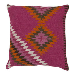 Surya Rugs - Magenta, Moth Beige, Wasabi, Sand Dollar and Pigeon Gray Polyester Filled 20 x 2 - - Add character to any room with this pillow accented with magenta, moth beige, wasabi, sand dollar and pigeon gray. This pillow has a polyester fill and a zipper closure. Made in India with one hundred percent Linen and cotton detail, this pillow is durable and priced right  - Cleaning/Care: Blot. Dry Clean  - Filled Material: Polyester Filler Surya Rugs - LD035-2020P