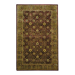"""Safavieh - Persian Legend Red/Brown Area Rug PL518C - 2'6"""" x 4' - Inspired by the legendary designs of Persia's most prestigious rug-weaving capitals, these extraordinary reproductions recreate some of the most prized antiques in Safavieh's archival collection. Intricate Tabriz, Lavar Kerman and Isfahan hand-knotted motifs are remarkably adapted to these hand-tufted rugs of incomparable quality. The finest New Zealand wool is chosen to achieve the intricate weave of these carpets. With utmost attention to every detail, Safavieh creates its Persian Legends Collection in India to provide consumers an exquisite yet affordable artisan-crafted look."""