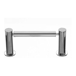 "Top Knobs - Hopewell Bath Tissue Holder - Polished Chrome - Length - 8 1/4"", Projection - 3 5/8"", Center to Center - 6 3/4"", Base Diameter - 1 1/2"" w (x) 1 1/2"" h"