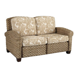 Home Styles - Home Styles Cabana Banana II Love Seat in Honey Finish - Home Styles - Loveseats - 540360 - Bring back the island essence with the Cabana Banana II Love Seat from Home Styles. This eco-friendly piece features frames that are made of 100 percent sustainable natural materials. Construction is from hand braided, four over two woven pattern, banana leaves; mahogany solids, and plywood in a honey finish.