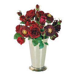 "Jane Seymour Botanicals - Rose in Vase, Red - From buds to full blooms, these gorgeous red roses add a romantic touch anywhere in your home. Even better, the remarkably realistic ""forever flowers"" will never lose a single petal. Now, that's love!"