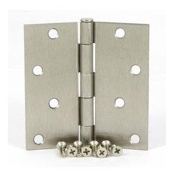 Stone Mill Hardware - Stone Mill Hardware Satin Nickel 4-inch, Square Corner Door Hinge - Stone Mill Hardware Satin Nickel 4-inch