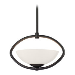 Dolan Designs Lighting - Single-Light Pendant with Oval Cutout - 2901-78 - This single-light pendant comes with one 6-inch and three 12-inch stem segments with an integrated sloped ceiling adapter. Height is adjustable between 16-1/4-inches to 52-1/4-inches. Takes (1) 100-watt halogen bulb(s). Bulb(s) sold separately. UL listed. Dry location rated.
