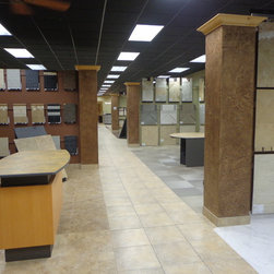 Tile - We carry a complete line of Bedrosian Tile from glass tiles to travertine, pavers, stone and granite.  We also carry tile installation supplies.  We have the largest tile showroom in Southern Utah with several displays throughout.