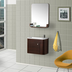 BathAuthority LLC dba Dreamline - Wall-Mounted Modern Bathroom Vanity with Sink and Mirror - DreamLine ceramic bathroom vanities are available in different styles and colors. Combining beauty with function, they would fit any bathroom design. Made with high quality MDF wood
