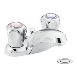 Moen - Moen 4935 Chateau Two Handle Low Arc Bathroom Faucet - The ever-popular Chateau series features rounded, modern styling and soft, clean curves, making it a proven classic.